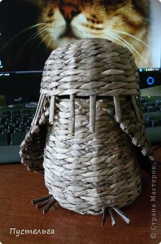 Что только не символизирует сова! Но мы выбираем самое нужное и плетём сову-шкатулку. фото 6