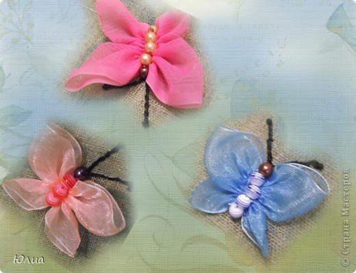 Мастер класс вышивка лентами бабочка