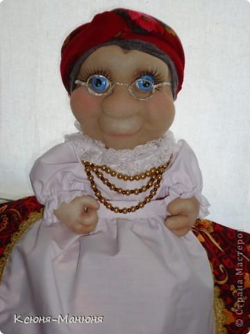 Кукла получилась как родная сестра Любавы, только в очках (Любава- моя первая кукла) фото 1