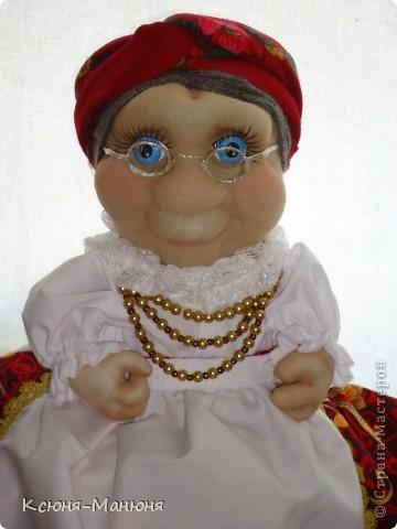 Кукла получилась как родная сестра Любавы, только в очках (Любава- моя первая кукла) фото 2