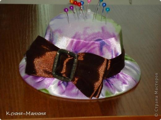 Шляпка- игольница моя повторюшка.  фото 2