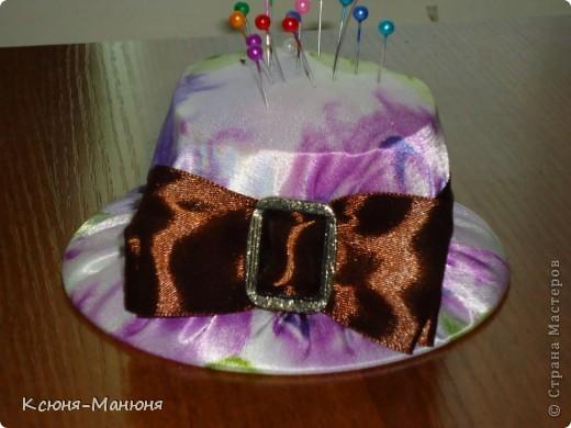 Шляпка- игольница моя повторюшка.  фото 1