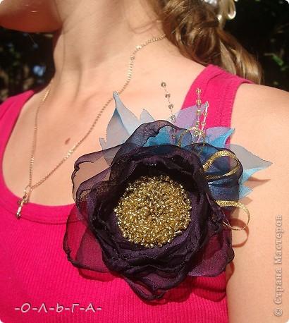 Здравствуйте мои хорошие жители СМ! По натворила я тут!!! Дочь попросила сделать какие-нибудь цветочки к ее маечки...  фото 5