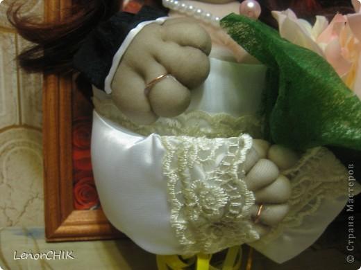 Всем доброго времени суток!!! Вот и появился у меня повод сшить панно на свадьбу))) Давно хотела попробовать, да никто свадеб не играл. И вот ОНО!!! ТА-ДА!!! Завтра свадьба у сотрудницы. Огромное спасибо за МК пользователю ОЛИК. http://stranamasterov.ru/node/195611?c=favorite фото 2