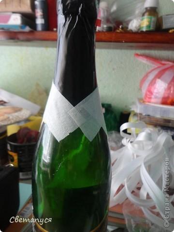 Доброго времени суток, дорогие!!!! Ну вот и  мне подвернулся случай сделать бутылочки ...а вернее жениха и невесту.... фото 11
