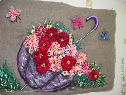 Доброе утро, Мастерицы!!!!! А у меня опять зонтик с цветами!  Делала на заказ! Все как всегда: сначала рисунок, потом вышивка! фото 6