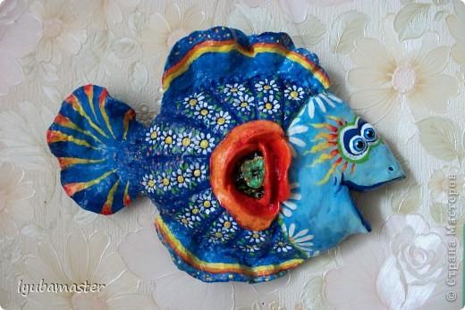 Рыбка 20 см на 14 см.