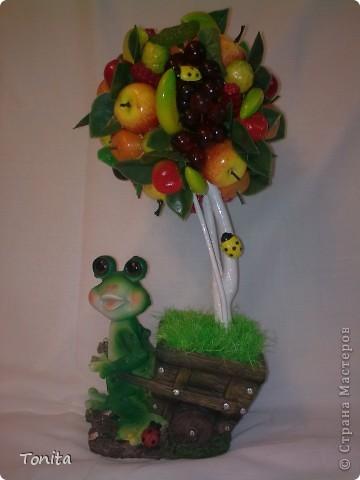 Ура!!! И у меня сказочное деревце выросло. Вот лягушка как раз идет его сажать. Мне оно понравилось. Очень надеюсь, что и Вам понравится тоже. фото 1