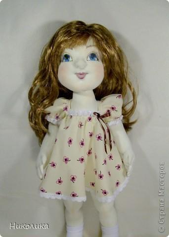 """Текстильная кукла """"Лизочка"""". Рост 52см. Игровая кукла.  фото 2"""