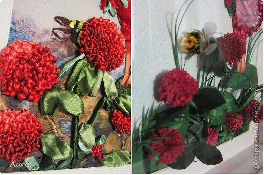 Приветствую всех!  У меня сегодня ЮБИЛЕЙ - 2 года в СМ! Отмечаем-с :)) Этой зимой я наткнулась на Цветочных феечек Cicely Mary Barker и тут же решила сделать их в квиллинге. Первую картинку я мучила долго и отложила, не доделав - так и лежит:( ... И вдруг я увидела у Изуля вербеновую фею http://stranamasterov.ru/node/348773, вышитую ленточками, и понеслось! Найти термопереводную бумагу мне оказалось не по силам, но в Китае легче и дешевле (!) заказать готовый набор – хотя пришлось ограничиться тем, что было у производителя, но варианты мне понравились. Лентами я вышивала впервые и процесс порадовал, равно как и результат: быстро и эффектно! Клеверные феи стали первыми и за 3 дня были готовы - за счет моего энтузиазма и терпения домашних:)) Размер вышивки внутри паспарту 22 на 31 см. фото 4