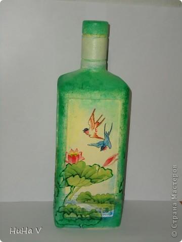 Декупажные бутылочки фото 2