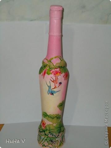 Декупажные бутылочки фото 5