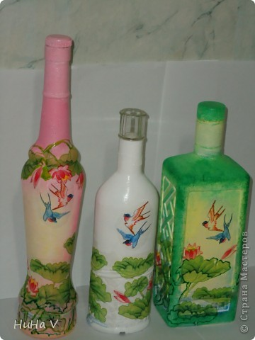 Декупажные бутылочки фото 14