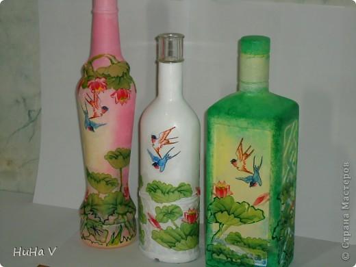 Декупажные бутылочки фото 15