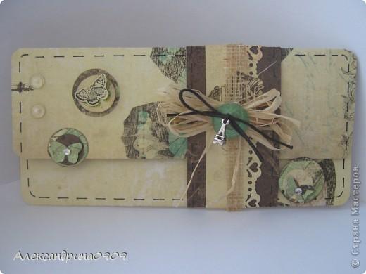 Вот такой подарочный конвертик получился. фото 2