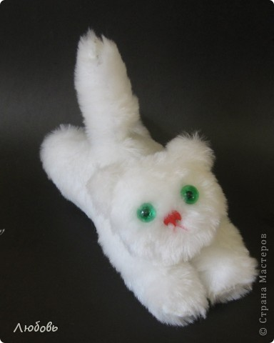 Белый котёнок конечно от Сонечки (6 лет)