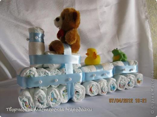 Многоуважаемые жители страны!!! Хочу представить свои торты из памперсов фото 1