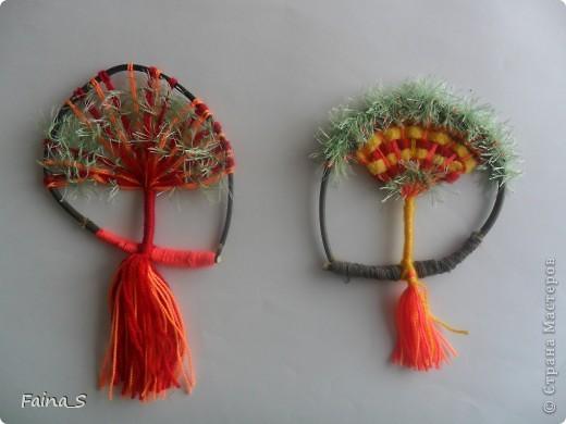 """Благодаря прекрасному МК Т.Н.Просняковой """"Плетение на веточках"""" (http://stranamasterov.ru/node/222858  ) мы с девочками тоже выполнили деревья на веточке. фото 3"""