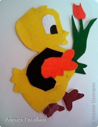 Таких цыпляток делали на уроке с третьеклассниками. Работа несложная, но кропотливая.  фото 4