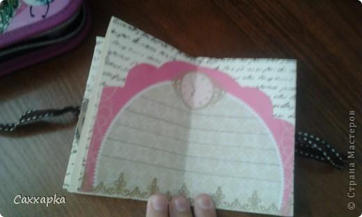 ♥ Привет всем! ♥ Ещё одна моя работа мини-блокнот. Придумала на ходу. Думала, куда пристроить шоколадную ленточку и вот пристроила! фото 4