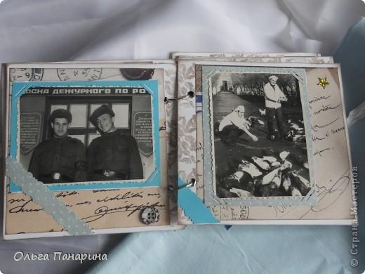 Этот альбом я сделала из старых армейских фотографий моего папы.Служил он в 1962 году.Фотографии обрели новый вид и как-будто ожили.  Папа изображен справа. фото 4