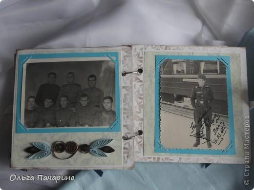 Этот альбом я сделала из старых армейских фотографий моего папы.Служил он в 1962 году.Фотографии обрели новый вид и как-будто ожили.  Папа изображен справа. фото 9