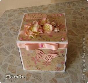 Одна моя очень хорошая знакомая, получив коробочку на серебряную свадьбу заказала для свой сестры на 35-летие со дня свадьбы такую же!!!!!!!!! Эту семью я знаю - это ТАКИЕ ЗАМЕЧАТЕЛЬНЫЕ ЛЮДИ, поэтому и делалась коробочка быстро и с ОГРОМНЫМ вдохновением!!! фото 1