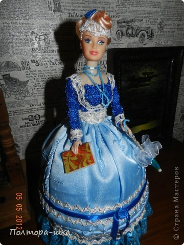 "Кукла-шкатулка ""Дама в голубом)))"" фото 3"