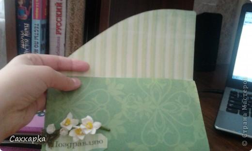 Вот моя очередная работа! Делала в подарок своей любимой бабушке. Мама решила подарить ей деньги, а я решила сделать конверт! фото 2