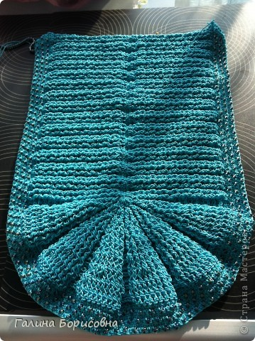 Гардероб Презент от Голубки Вязание крючком Бирюзовая сумочка с бисером Бисер Пряжа фото 5