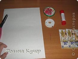 Мастер-класс Аппликация Бисероплетение Оригами Кошелёк оригами Бисер Бумага Клей фото 2