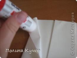Мастер-класс Аппликация Бисероплетение Оригами Кошелёк оригами Бисер Бумага Клей фото 11