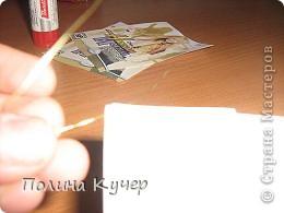 Мастер-класс Аппликация Бисероплетение Оригами Кошелёк оригами Бисер Бумага Клей фото 17