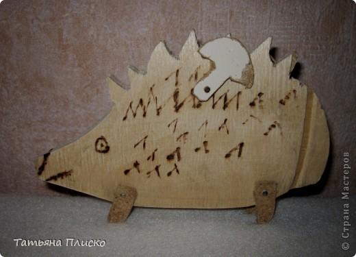 """Вот такого ёжика сделан мой сын Саша (12 лет) на уроках труда в подарок любимой тётушке, так сказать """"ответка"""" на её лягушек (http://stranamasterov.ru/node/352261)...  Честно говоря, для меня это тоже было сюрпризом, удивил даже меня))))))))))))) фото 1"""