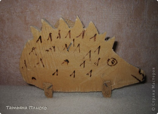 """Вот такого ёжика сделан мой сын Саша (12 лет) на уроках труда в подарок любимой тётушке, так сказать """"ответка"""" на её лягушек (http://stranamasterov.ru/node/352261)...  Честно говоря, для меня это тоже было сюрпризом, удивил даже меня))))))))))))) фото 2"""