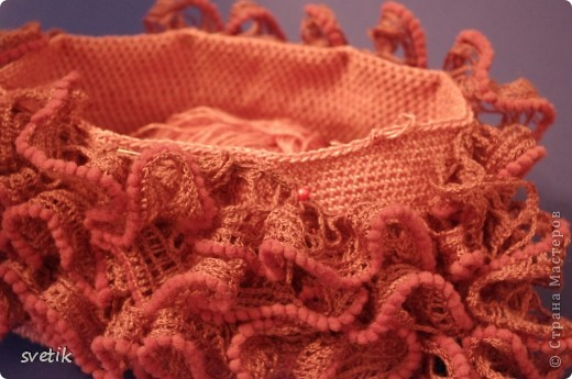 Гардероб Мастер-класс Презент от Голубки Вязание Вязание крючком Сумочка Бисер Материал бросовый Нитки фото 16