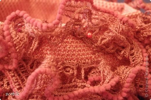 Гардероб Мастер-класс Презент от Голубки Вязание Вязание крючком Сумочка Бисер Материал бросовый Нитки фото 15