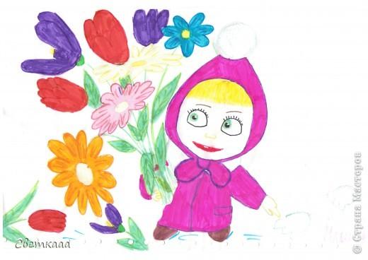 Принцесса Златовласка собирает цветы на полянке)) фото 3