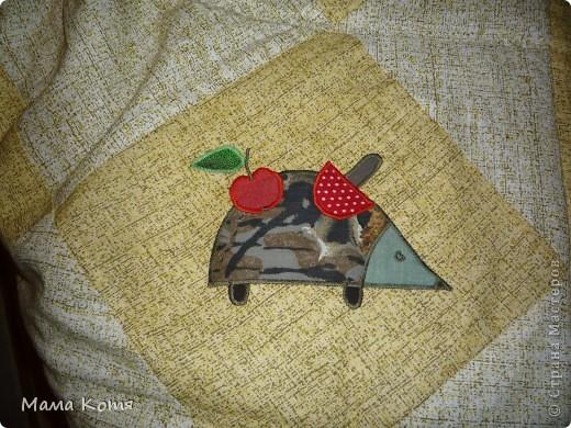Лоскутное одеяло с аппликациями фото 2