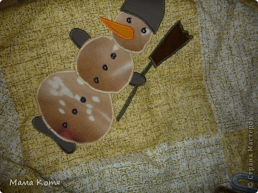 Лоскутное одеяло с аппликациями фото 3