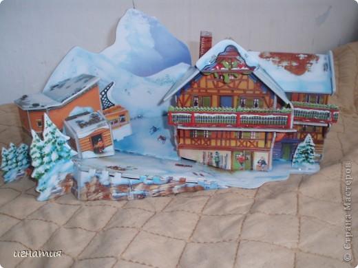Артуша собрал вот такой домик - пазлы 3 Д фото 1