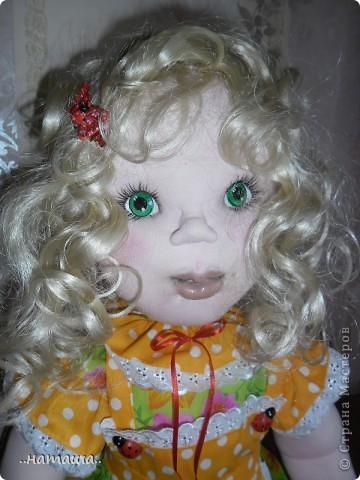 Здравствуйте!!! Так понравилось делать кукол, не оторваться! Вчера сделала ещё такую куколку. Рост 84 см. фото 4