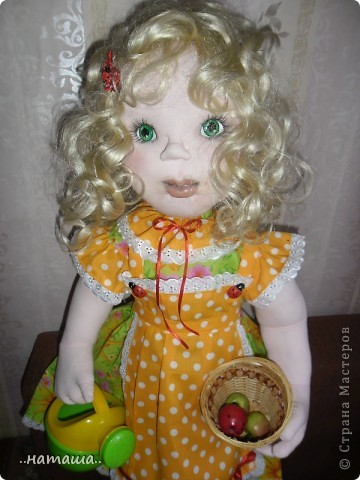 Здравствуйте!!! Так понравилось делать кукол, не оторваться! Вчера сделала ещё такую куколку. Рост 84 см. фото 2