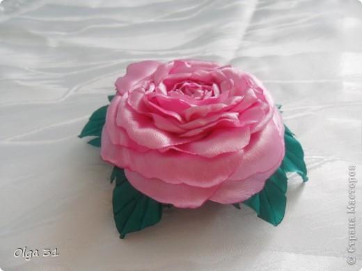 Всем доброго времени суток. Представляю свой цветок. Почему назвала вдохновение? Да потому что вдохновилась от увиденного цветка у О-Л-Ь-Г-И. Спасибо ей огромное за ссылку на МК этого цветка. Я в восторге, результатом довольна! А как вам?  фото 3