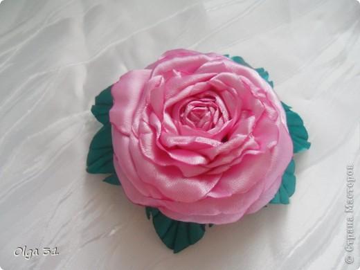 Всем доброго времени суток. Представляю свой цветок. Почему назвала вдохновение? Да потому что вдохновилась от увиденного цветка у О-Л-Ь-Г-И. Спасибо ей огромное за ссылку на МК этого цветка. Я в восторге, результатом довольна! А как вам?  фото 1