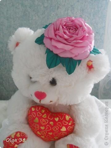 Всем доброго времени суток. Представляю свой цветок. Почему назвала вдохновение? Да потому что вдохновилась от увиденного цветка у О-Л-Ь-Г-И. Спасибо ей огромное за ссылку на МК этого цветка. Я в восторге, результатом довольна! А как вам?  фото 4