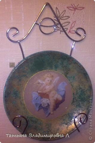 А вот моя тарелочка. Тарелку делала в подарок. Сделана за несколько часов.  фото 6