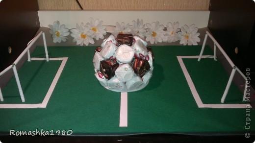 Сегодня у брата моего мужа день варенья. Он футболист.  Вот такой подарок мы ему сделали с детками  . фото 1