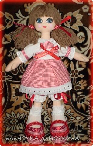 Это моя первая куколка и сразу в подарок девушке Анюте=)... говорят они похожи=)  фото 1