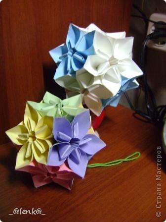 Фантазии на тему классической цветочной кусудамы фото 8